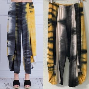 Alembika Marle Black & Yellow Print Pull-On Pants
